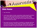 Ayurveda Editable PowerPoint Template