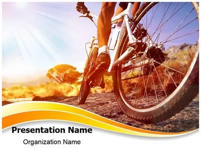 Cyclist Editable PowerPoint Template