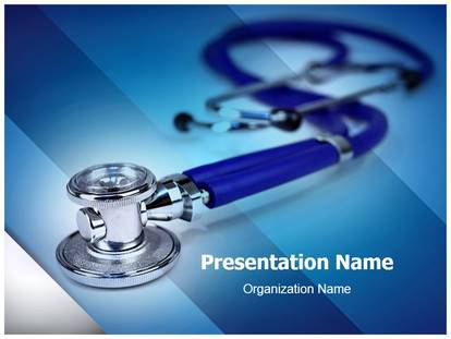 Free medical stethoscope medical powerpoint template for medical medical stethoscope powerpoint template toneelgroepblik Image collections