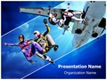 Skydiving Editable PowerPoint Template