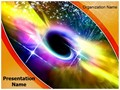 Universe Black Hole Editable PowerPoint Template