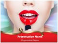 Red Lipstick Editable PowerPoint Template