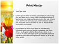 Nature Flowers Editable PowerPoint Template