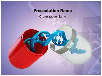 Free Genetics Medicine Medical Powerpoint Template For