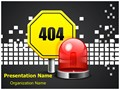 Page Not Found 404 Error Editable PowerPoint Template