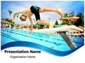 Swimming Competition Editable PowerPoint Template