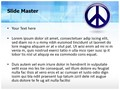 Symbol Peace And Love Editable PowerPoint Template