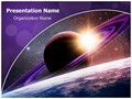 Planet Saturn Editable PowerPoint Template