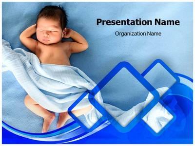 Newborn Baby Editable PowerPoint Template