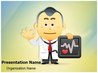 Medical Doctor Presenting Editable PowerPoint Template