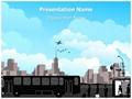 Transportation Bus Station Editable PowerPoint Template