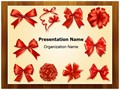 Gift Bows And Ribbons Editable PowerPoint Template