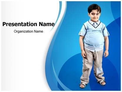 Free obesity in children medical powerpoint template for for Childhood obesity powerpoint templates