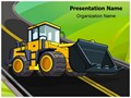JCB Truck Editable PowerPoint Template