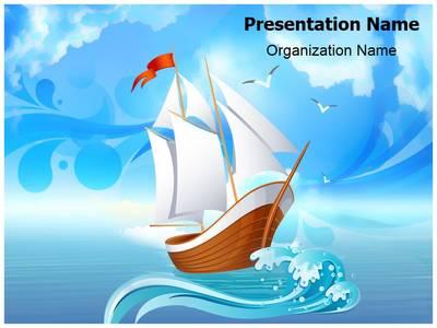 Sailboat Transportation Editable PowerPoint Template