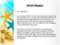 Beach Summer Holidays Editable PowerPoint Template