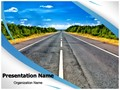 Isolated Road Editable PowerPoint Template