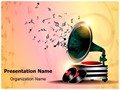 Gramophone Abstract Background Editable PowerPoint Template