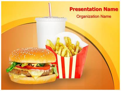 professional fast food mcdonalds editable powerpoint template, Powerpoint