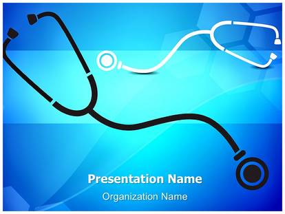 Free Medical Stethoscope Background Medical Powerpoint Template For