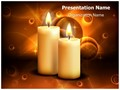 Lighted Candles Editable PowerPoint Template