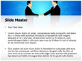 Business Deal Handshake Editable PowerPoint Template