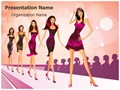 Fashion Show Ramp Editable PowerPoint Template