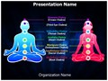 Meditation Position And Chakras Editable PowerPoint Template