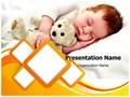 Sleeping Innocence Editable PowerPoint Template