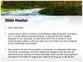 River Travel Destinations Editable PowerPoint Template