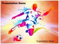 Soccer Player Football Championship Editable PowerPoint Template