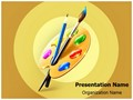 Artist Art Palette Editable PowerPoint Template