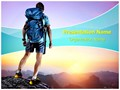 Tourist Hiking Adventure Sports Editable PowerPoint Template