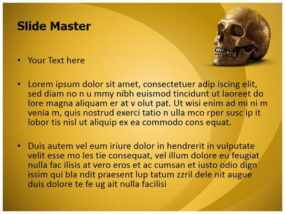 Free Anatomy Human Skull Medical PowerPoint Template for