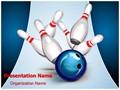 Recreation Bowling Ball Editable PowerPoint Template