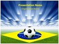 Brazil Football Soccer Editable PowerPoint Template