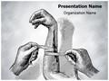 Nursing Arm Bandage Editable PowerPoint Template