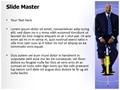 Businessman Pogo Stick Editable PowerPoint Template