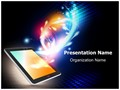 Mobile Media Tablet Editable PowerPoint Template