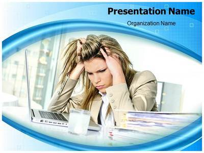 Workplace Stress Editable PowerPoint Template