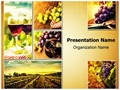 Wine Montage Editable PowerPoint Template