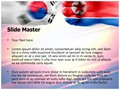South Korea North Korea Editable PowerPoint Template
