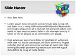 Rubiks Cube Editable 3D Animated PPT Template