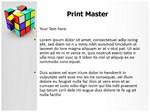 Rubiks Cube Editable 3D Animated PPT Templates