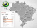 Brazil Map With Selection List PowerPoint Map