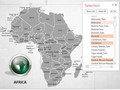Africa Map With Selection List PowerPoint Map