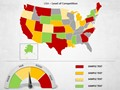 USA Map With Selection List PowerPoint Map