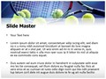 Tennis Racket Editable PowerPoint Template