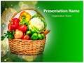 Vegetable Basket Editable PowerPoint Template