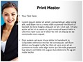 Business Woman Editable PowerPoint Template